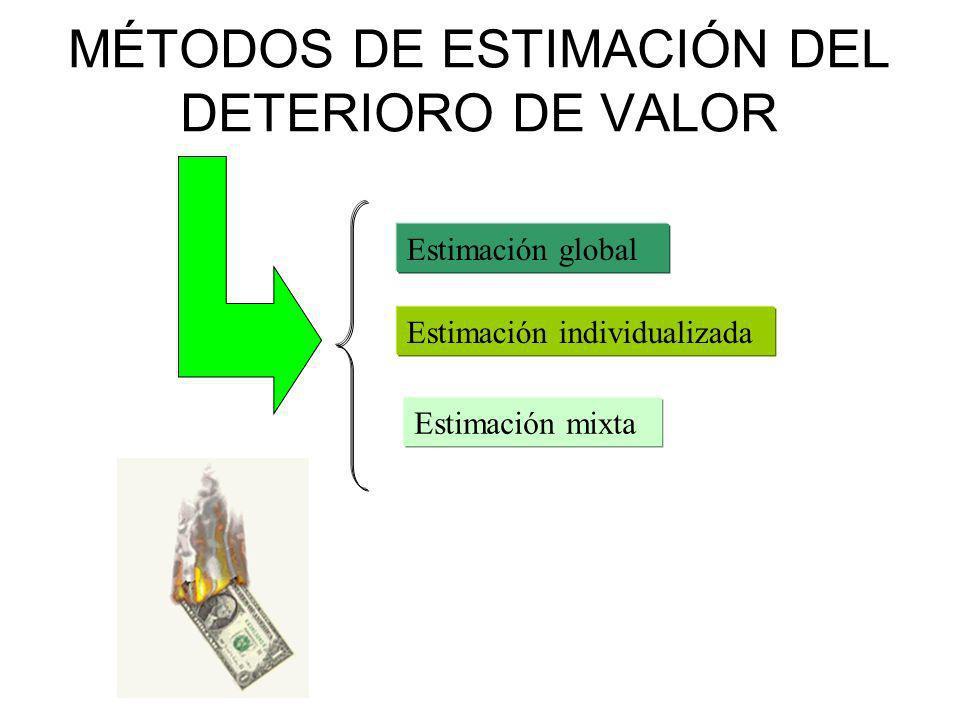 MÉTODOS DE ESTIMACIÓN DEL DETERIORO DE VALOR