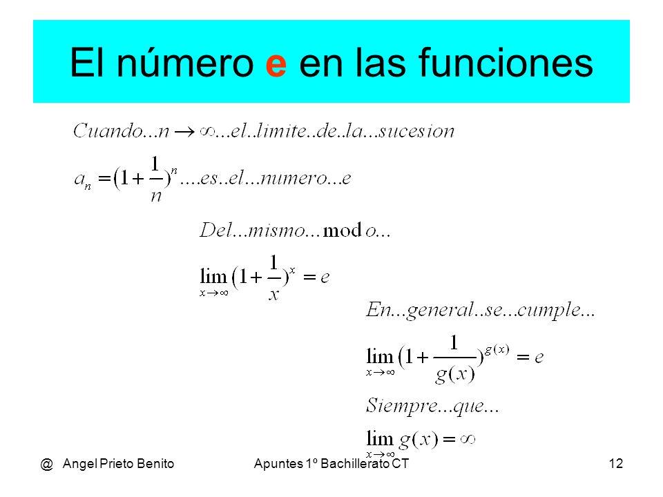 El número e en las funciones