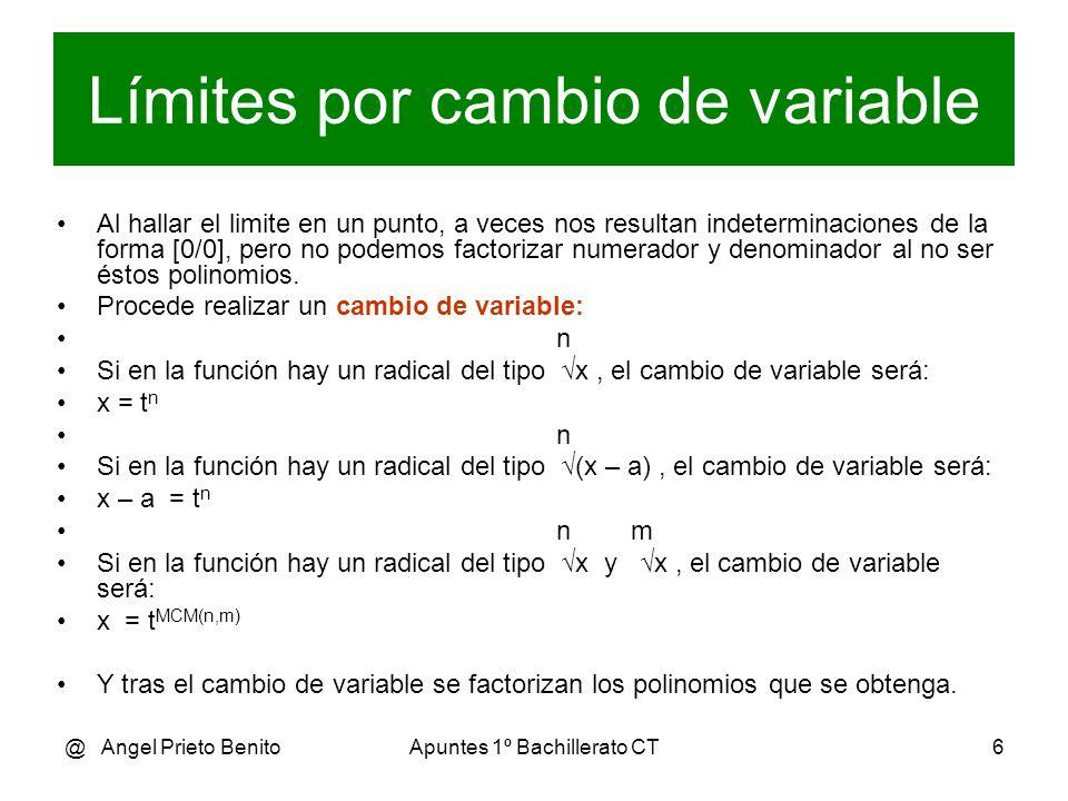Límites por cambio de variable