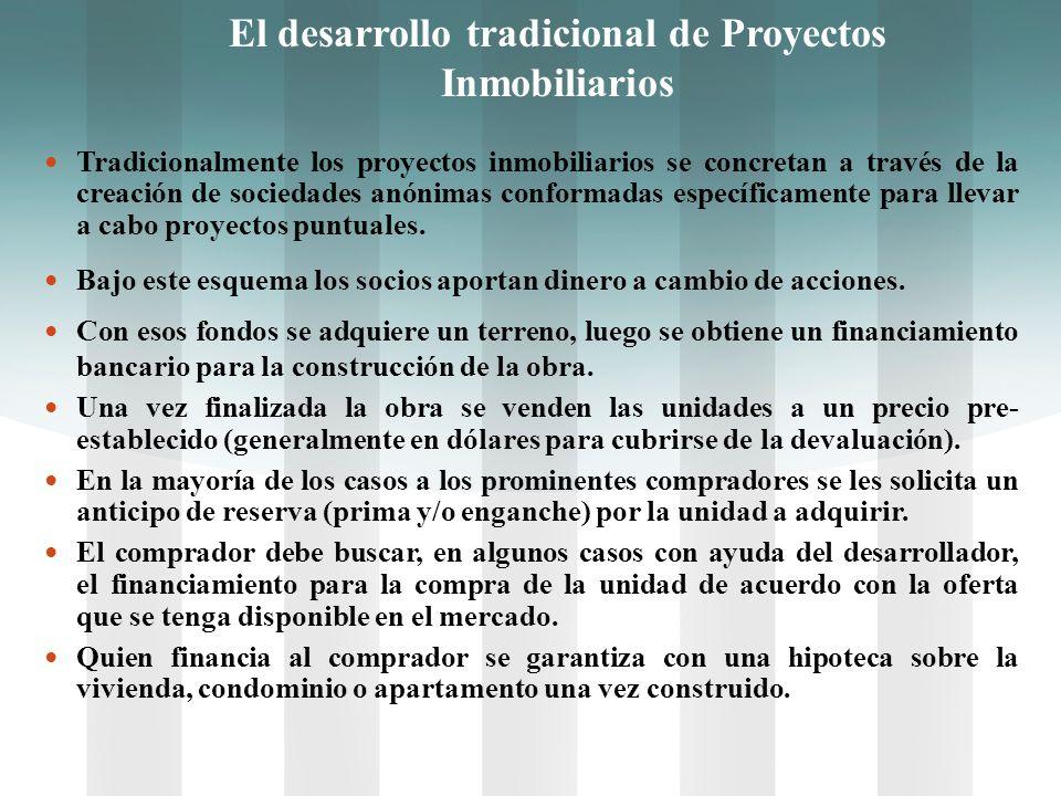 El desarrollo tradicional de Proyectos Inmobiliarios