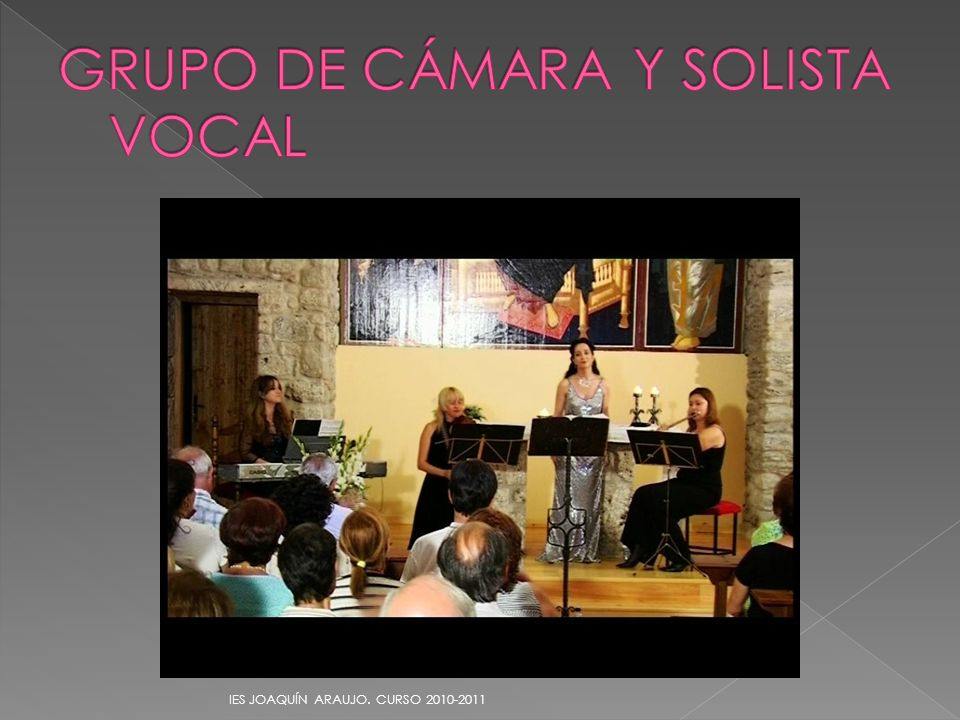 GRUPO DE CÁMARA Y SOLISTA VOCAL