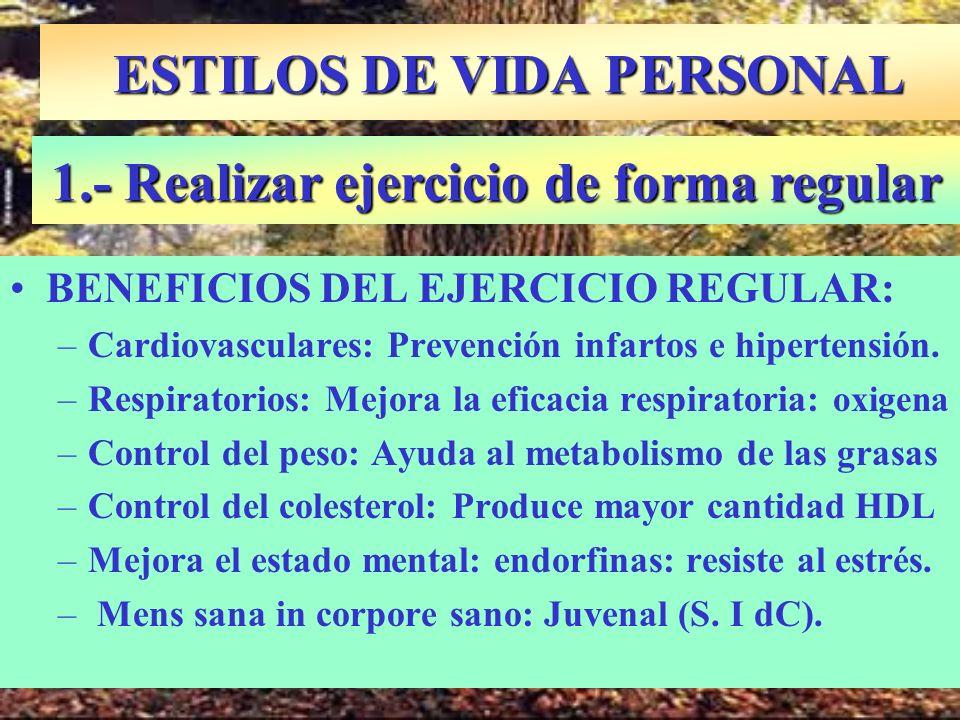 ESTILOS DE VIDA PERSONAL