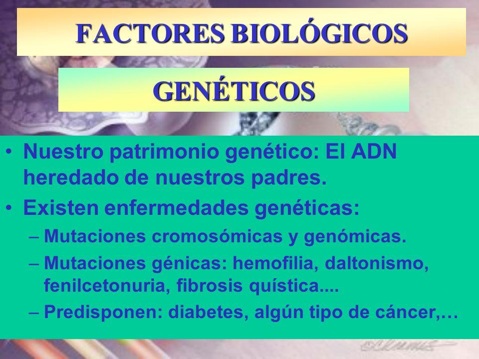 FACTORES BIOLÓGICOS GENÉTICOS