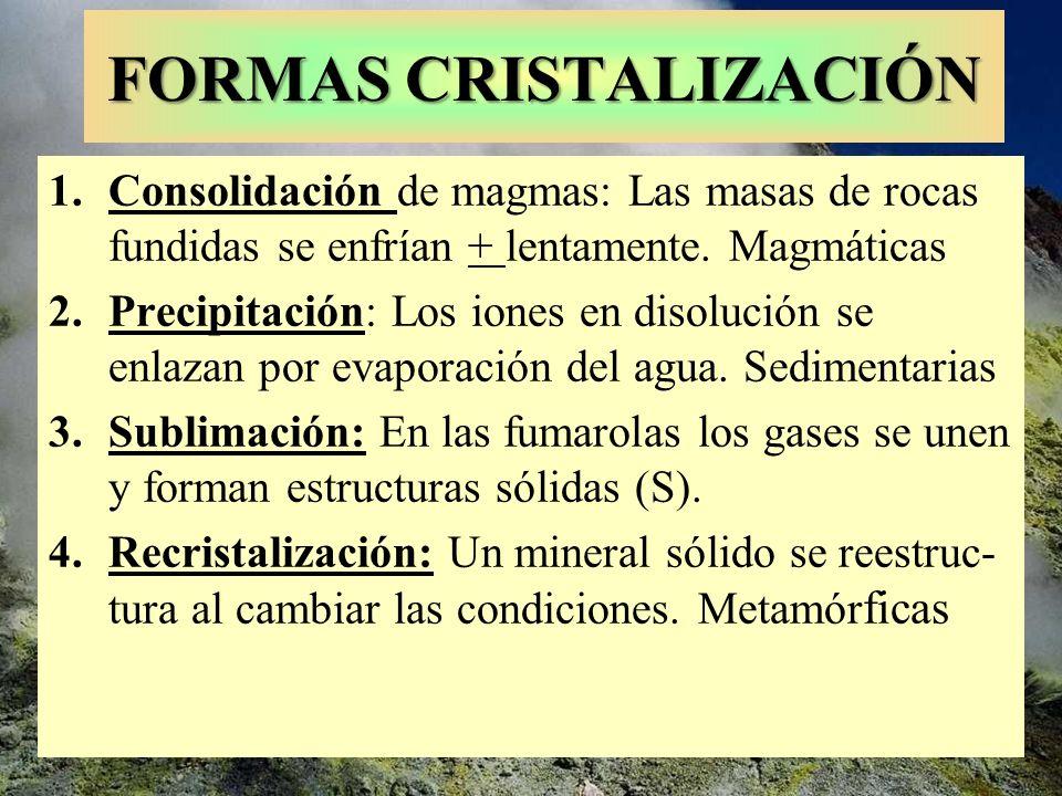 FORMAS CRISTALIZACIÓN