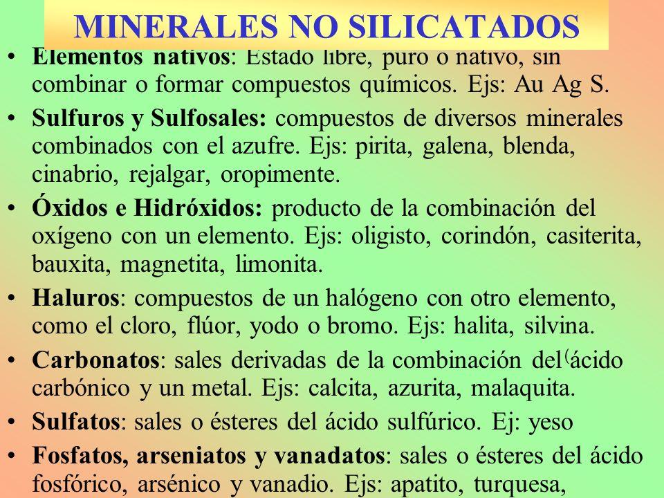 MINERALES NO SILICATADOS