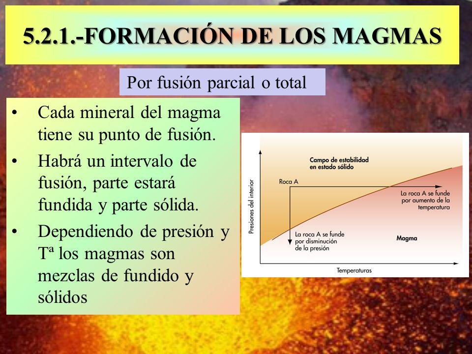 5.2.1.-FORMACIÓN DE LOS MAGMAS