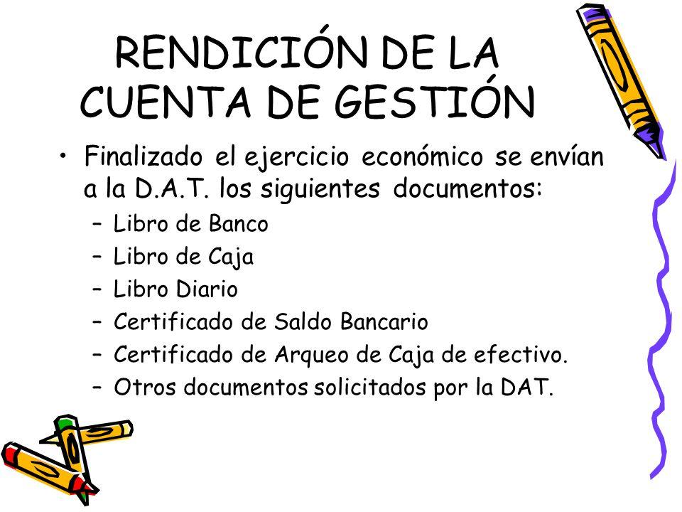 RENDICIÓN DE LA CUENTA DE GESTIÓN