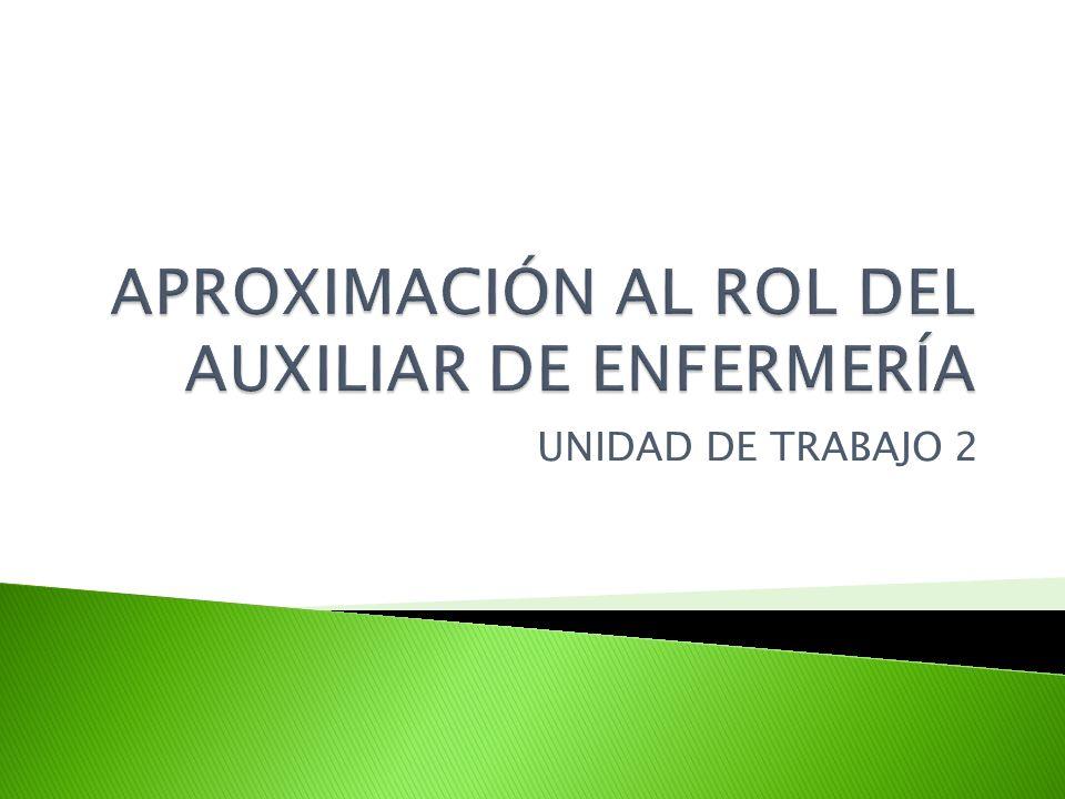 APROXIMACIÓN AL ROL DEL AUXILIAR DE ENFERMERÍA