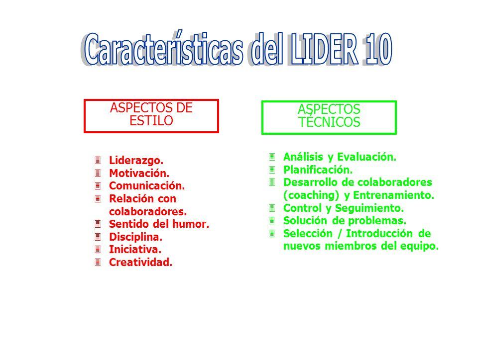 Características del LIDER 10