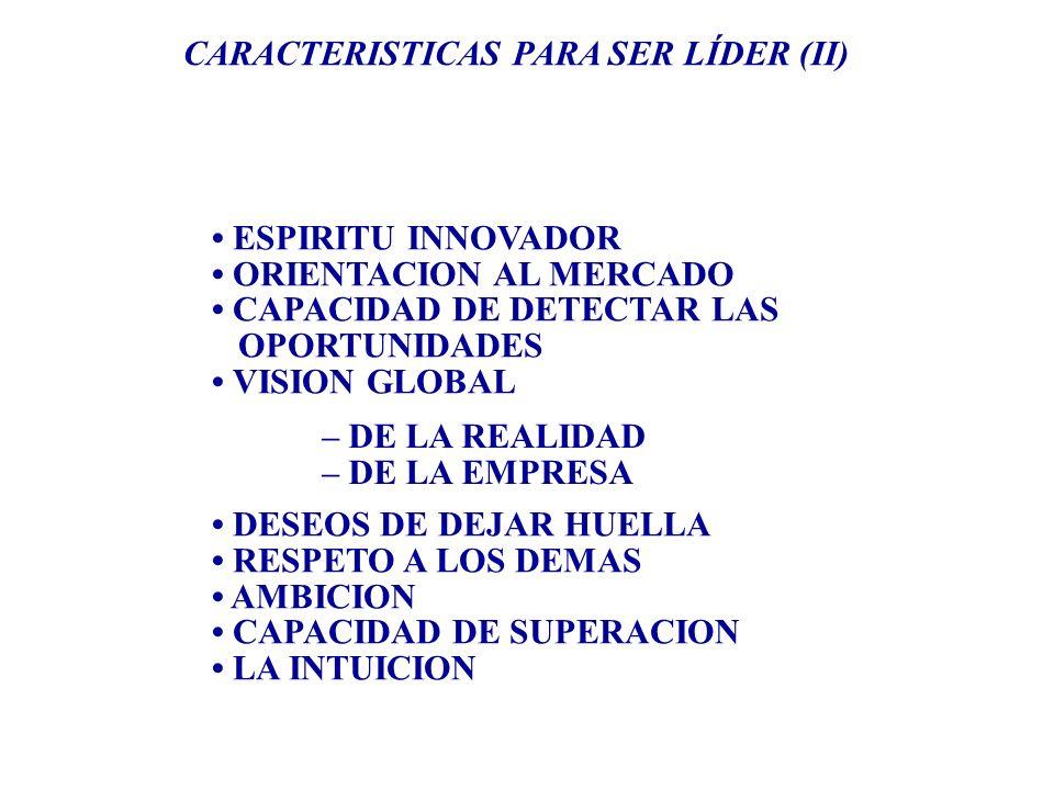 CARACTERISTICAS PARA SER LÍDER (II)