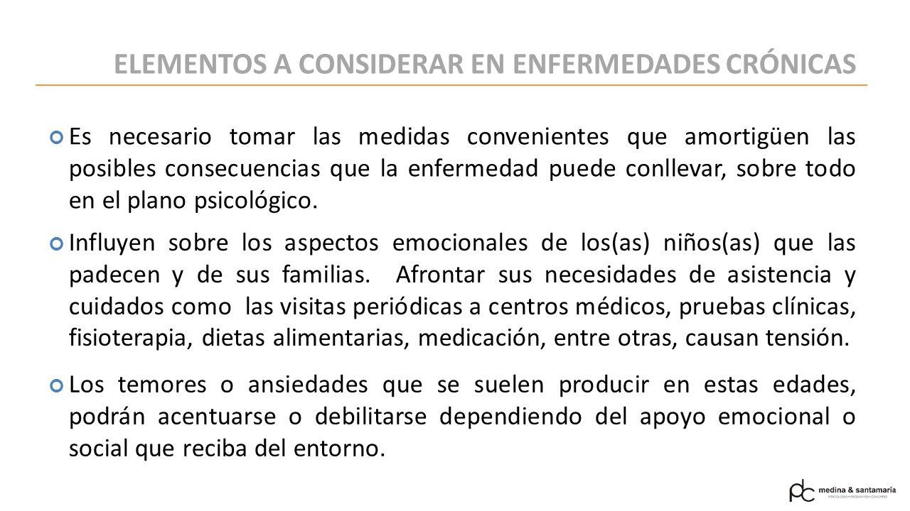 ELEMENTOS A CONSIDERAR EN ENFERMEDADES CRÓNICAS
