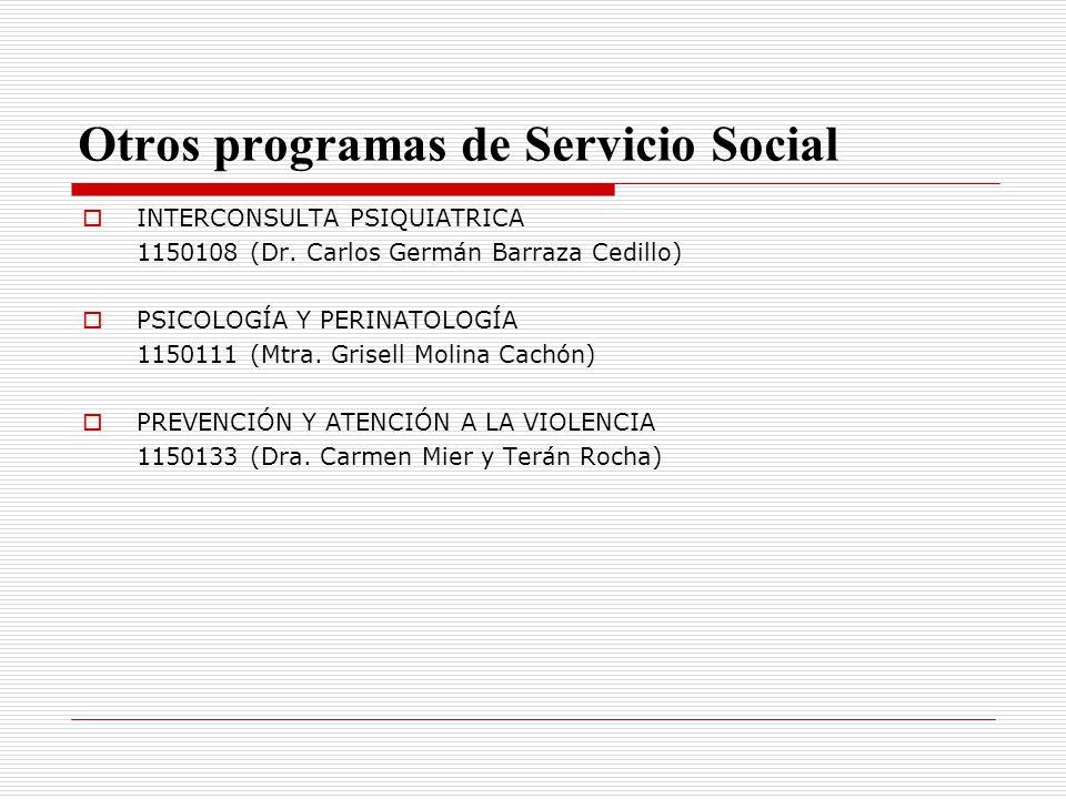 Otros programas de Servicio Social