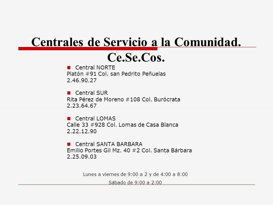 Centrales de Servicio a la Comunidad. Ce.Se.Cos.