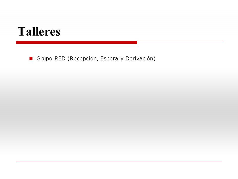 Talleres Grupo RED (Recepción, Espera y Derivación)
