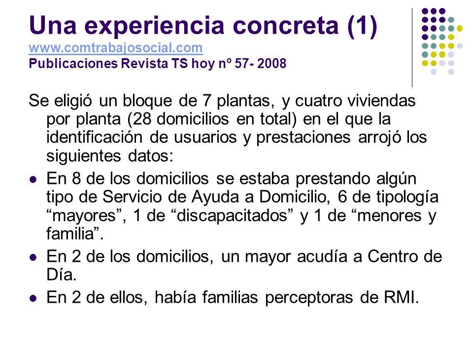 Una experiencia concreta (1) www. comtrabajosocial