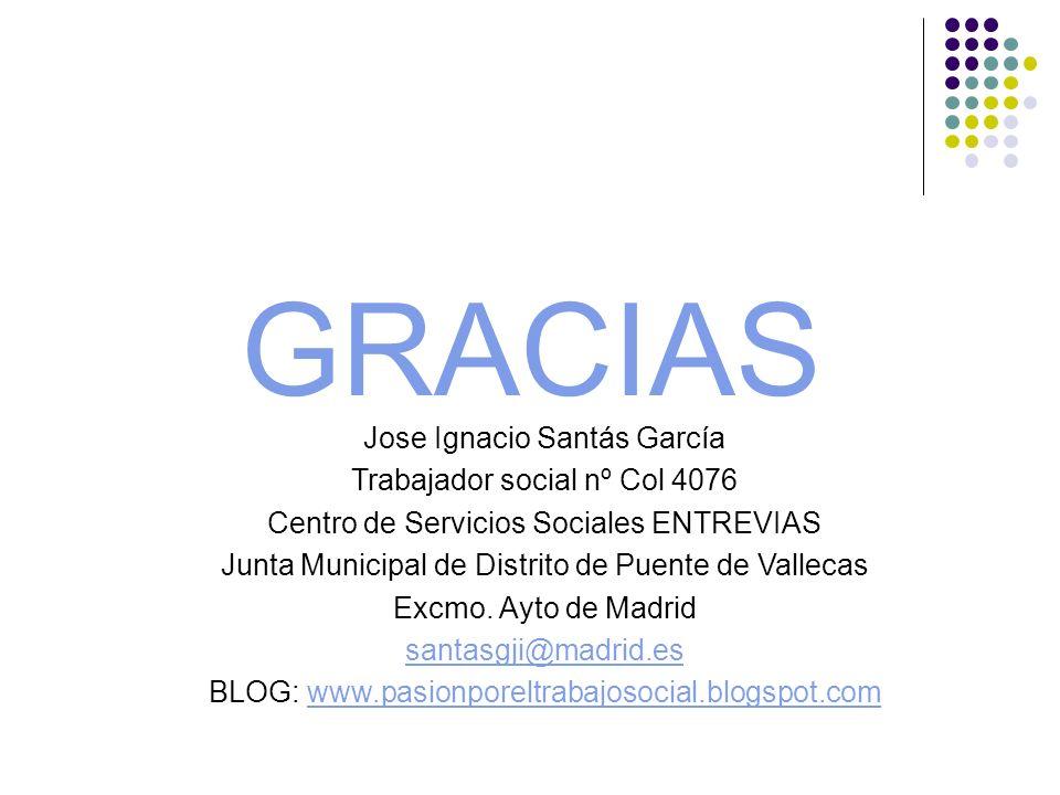 GRACIAS Jose Ignacio Santás García Trabajador social nº Col 4076