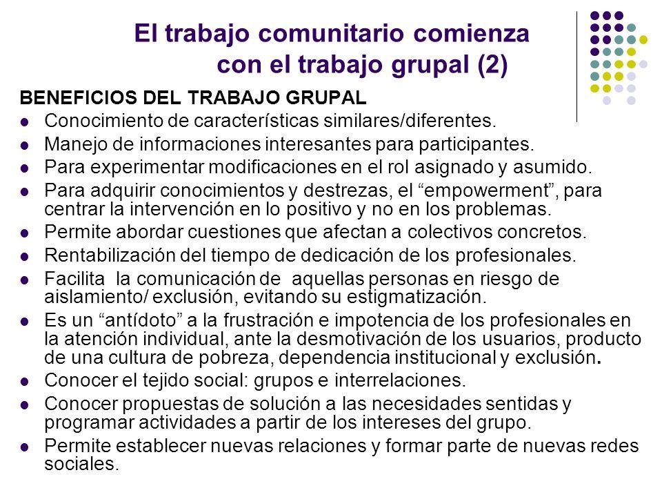 El trabajo comunitario comienza con el trabajo grupal (2)
