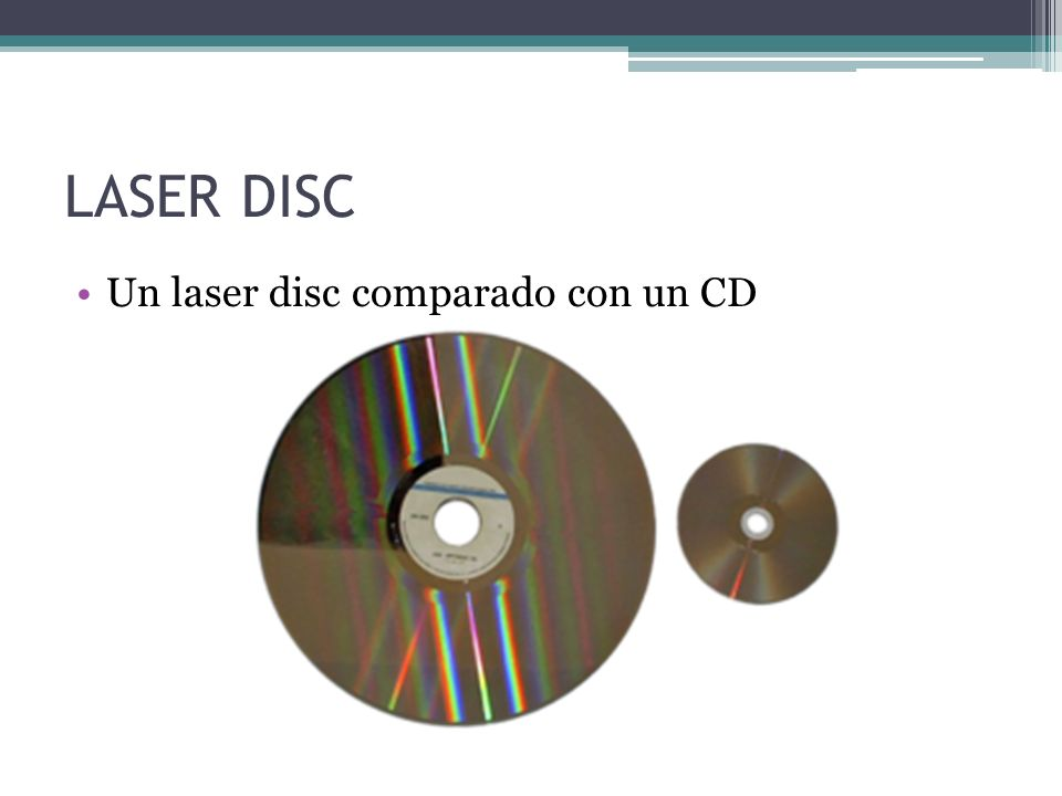 LASER DISC Un laser disc comparado con un CD