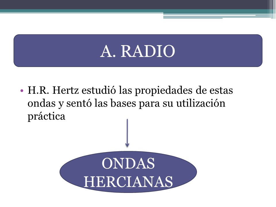 A. RADIO ONDAS HERCIANAS