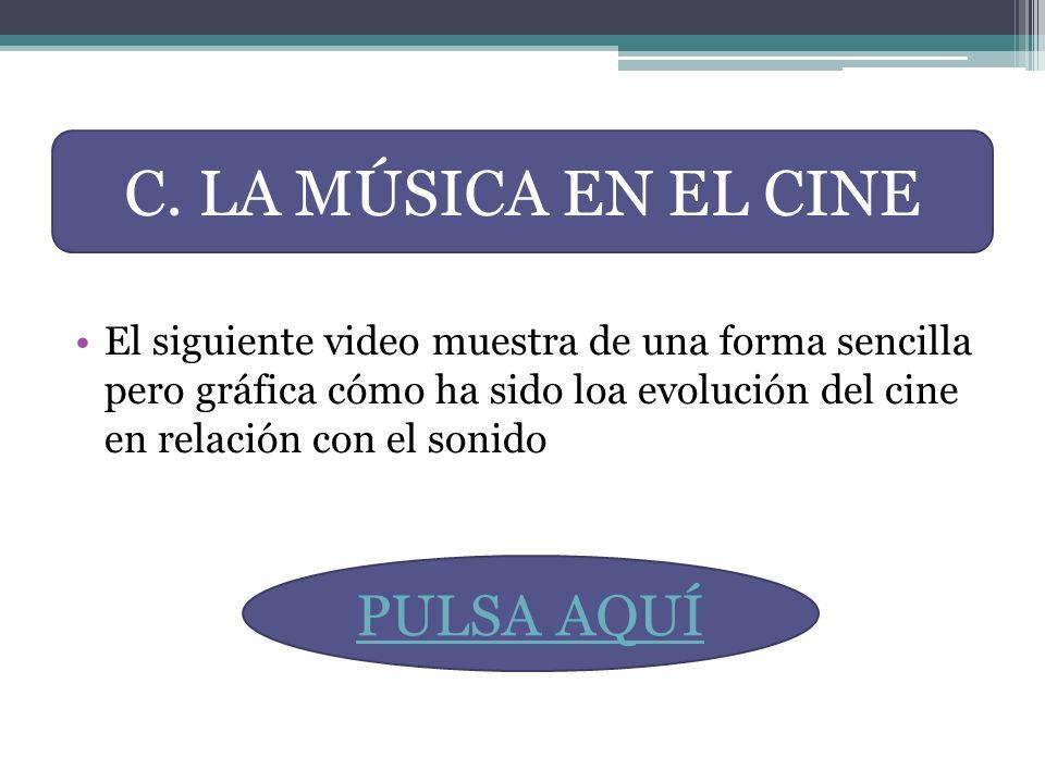C. LA MÚSICA EN EL CINE PULSA AQUÍ