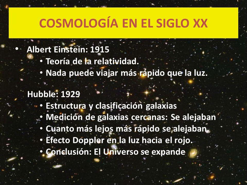 COSMOLOGÍA EN EL SIGLO XX