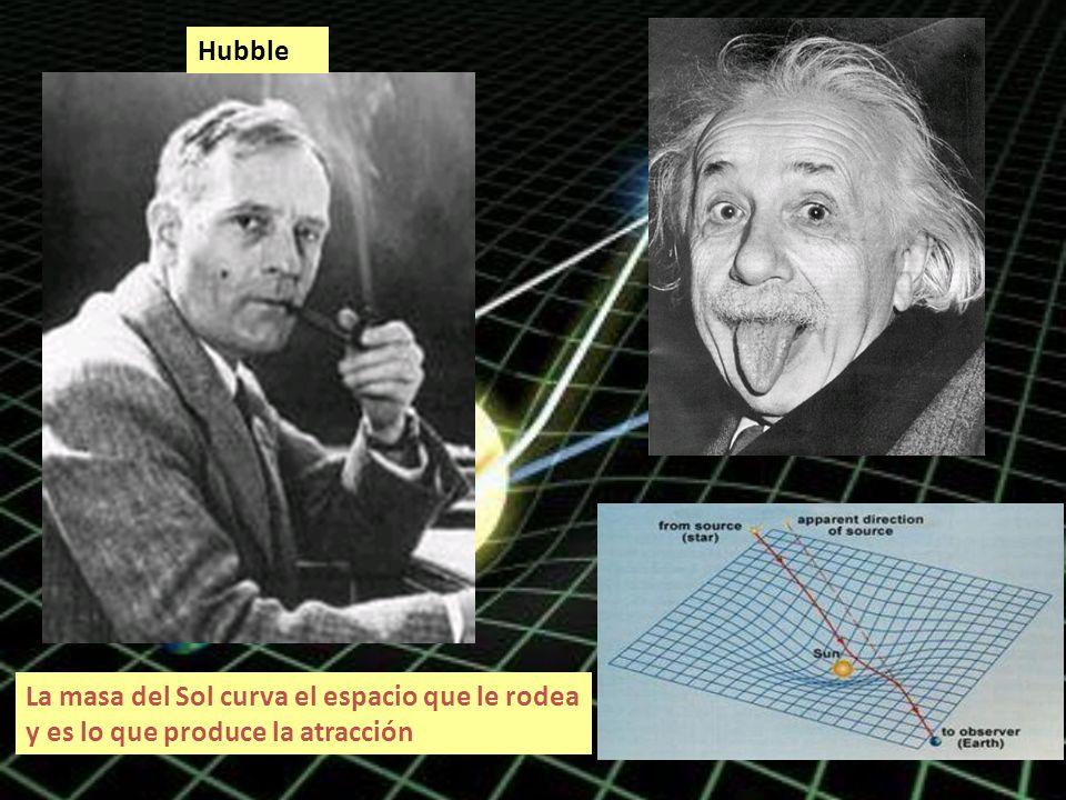 Hubble La masa del Sol curva el espacio que le rodea y es lo que produce la atracción