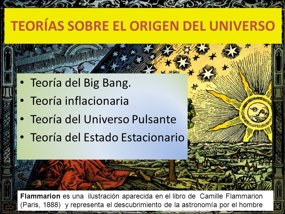 TEORÍAS SOBRE EL ORIGEN DEL UNIVERSO