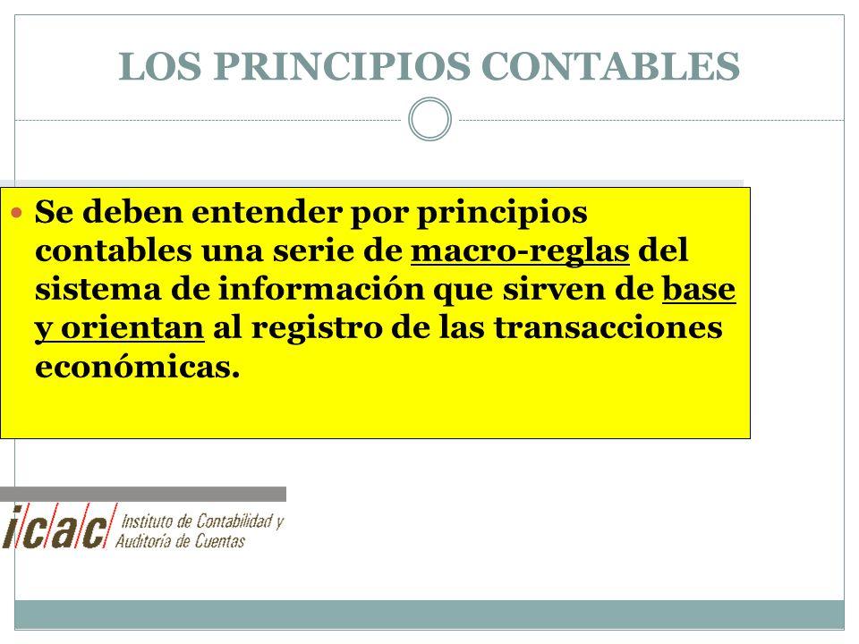 LOS PRINCIPIOS CONTABLES