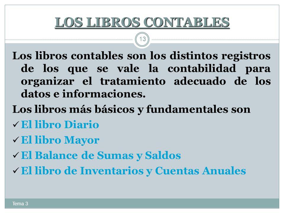LOS LIBROS CONTABLES