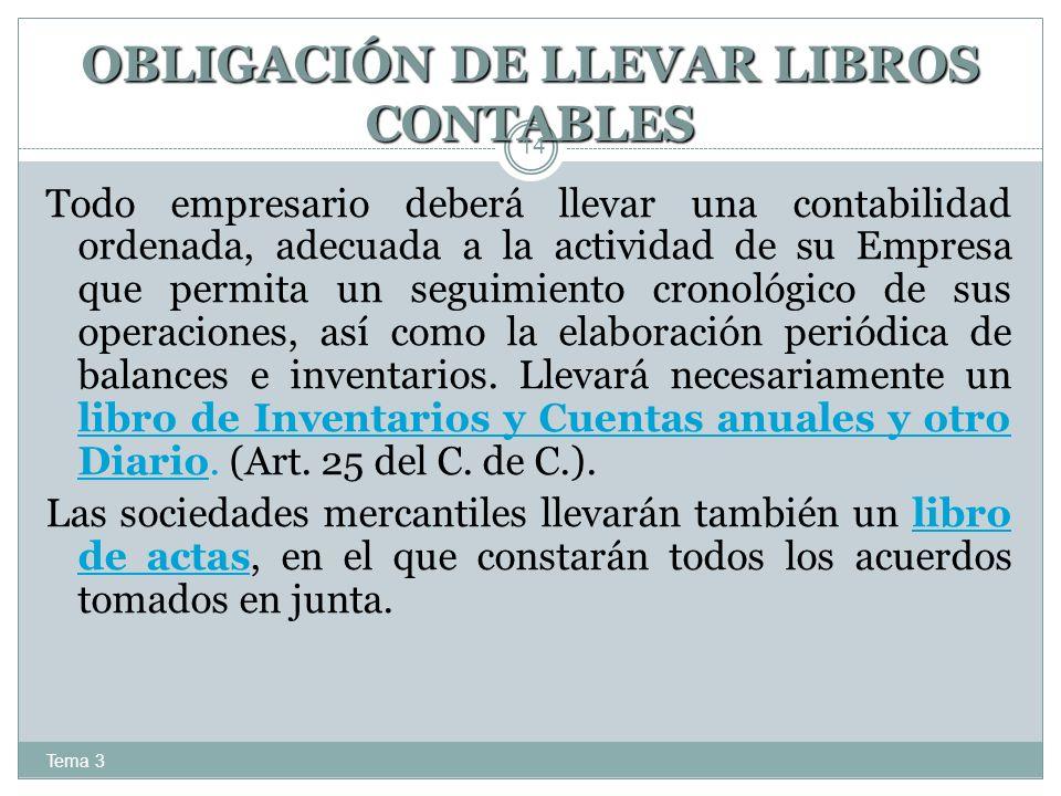 OBLIGACIÓN DE LLEVAR LIBROS CONTABLES