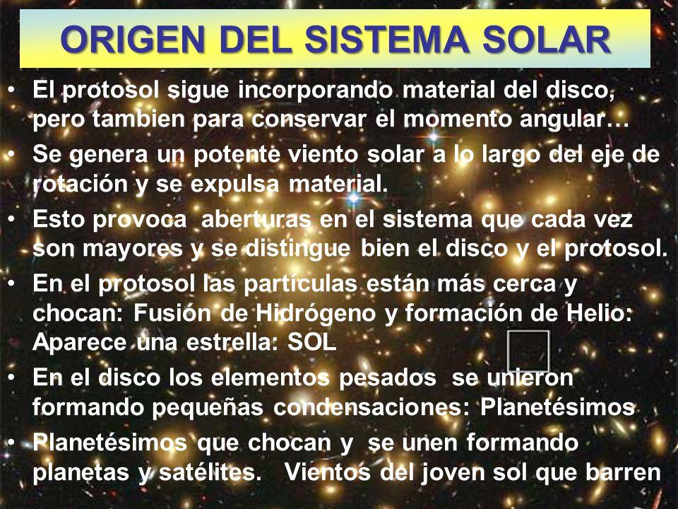 ORIGEN DEL SISTEMA SOLAR