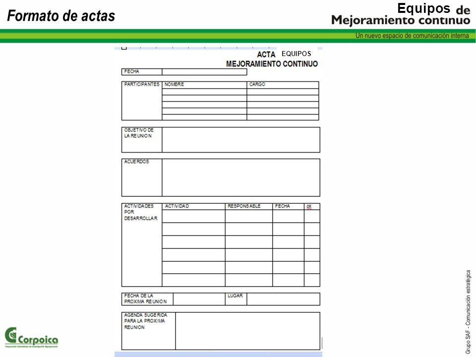 Equipos Formato de actas EQUIPOS