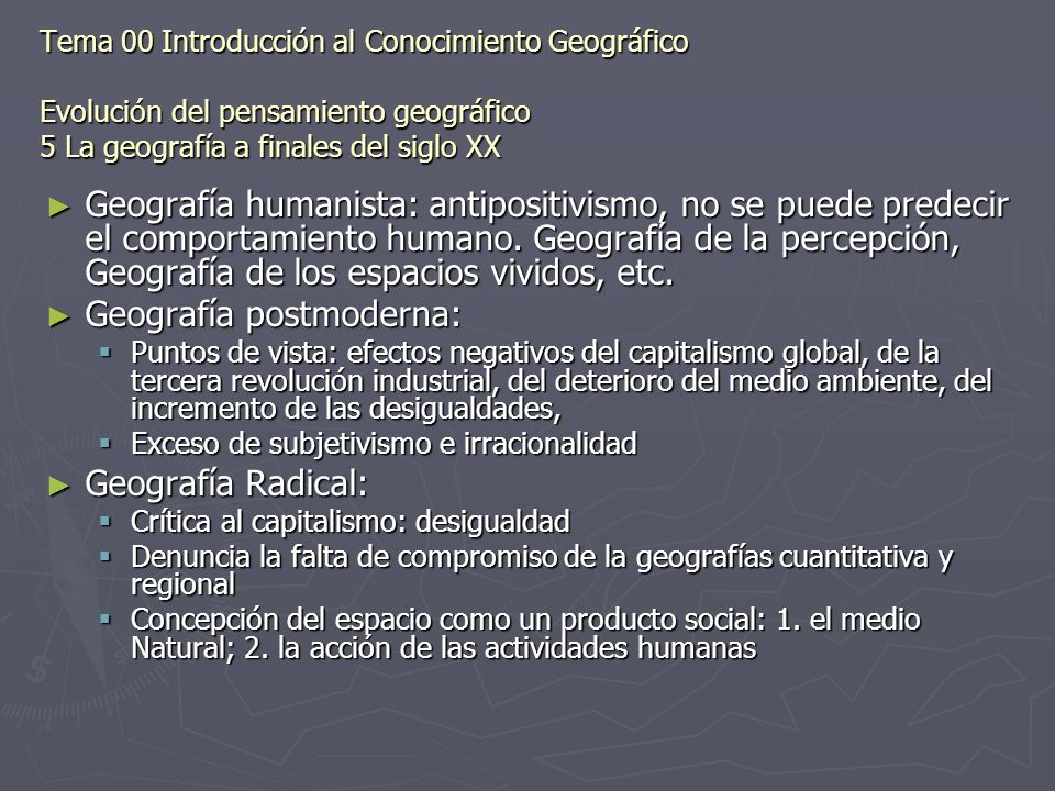 Geografía postmoderna: