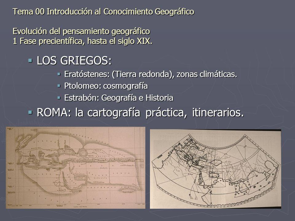 ROMA: la cartografía práctica, itinerarios.