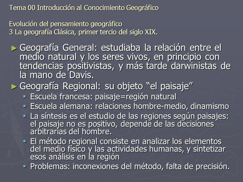 Geografía Regional: su objeto el paisaje