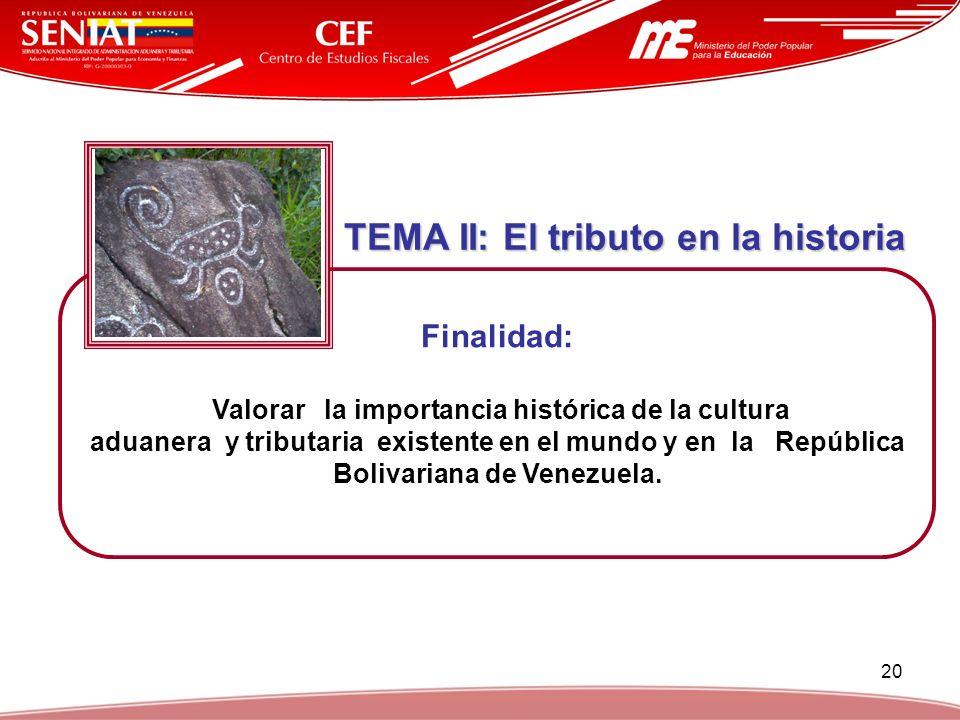 TEMA II: El tributo en la historia