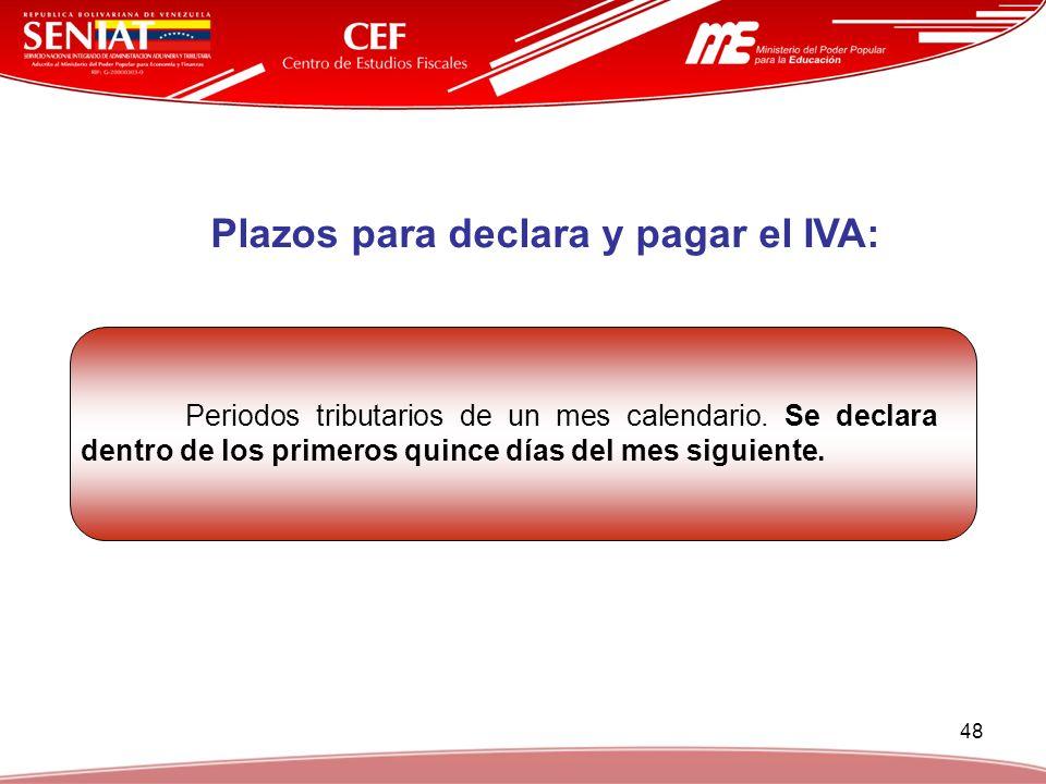 Plazos para declara y pagar el IVA: