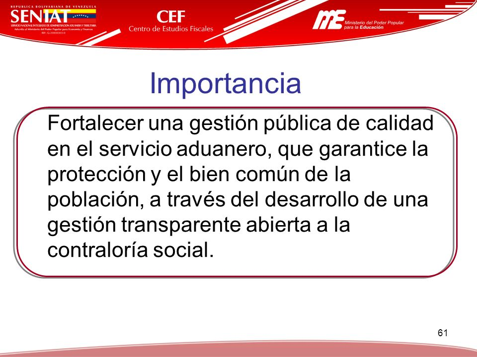 Formaci n en cultura aduanera y tributaria ppt video for Oficina nacional de gestion tributaria