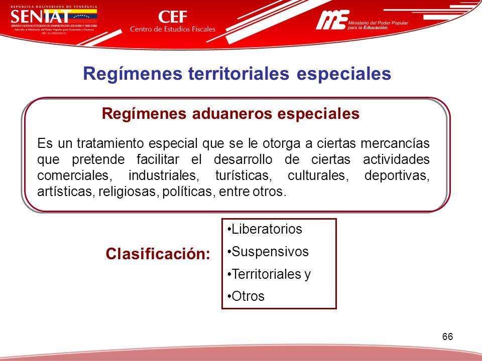 Regímenes territoriales especiales