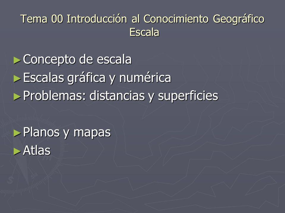 Tema 00 Introducción al Conocimiento Geográfico Escala