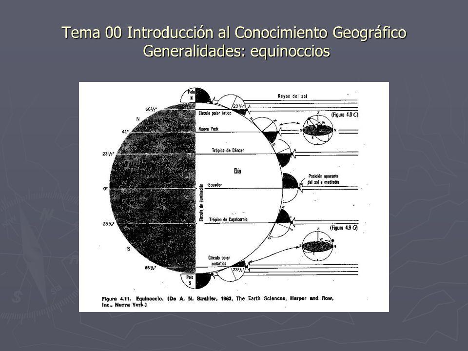 Tema 00 Introducción al Conocimiento Geográfico Generalidades: equinoccios
