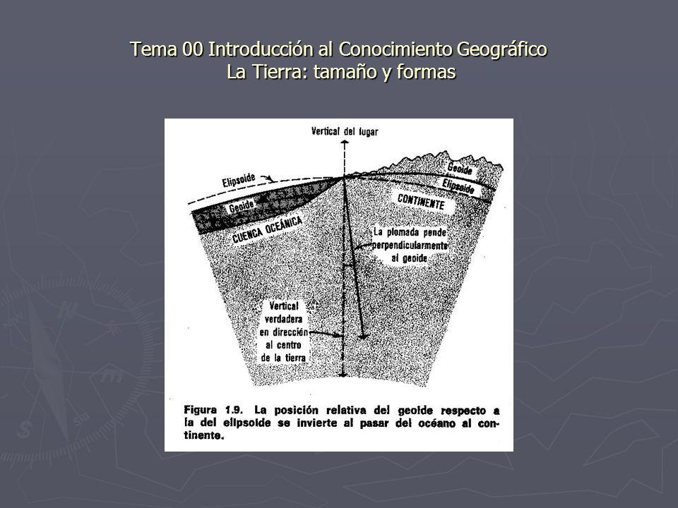 Tema 00 Introducción al Conocimiento Geográfico La Tierra: tamaño y formas