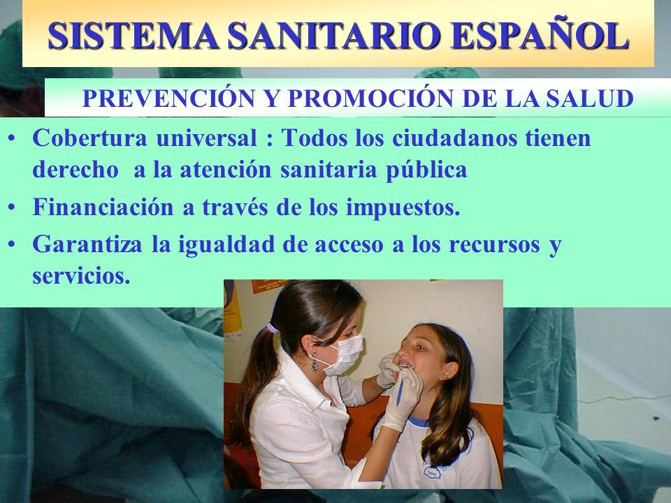 SISTEMA SANITARIO ESPAÑOL PREVENCIÓN Y PROMOCIÓN DE LA SALUD