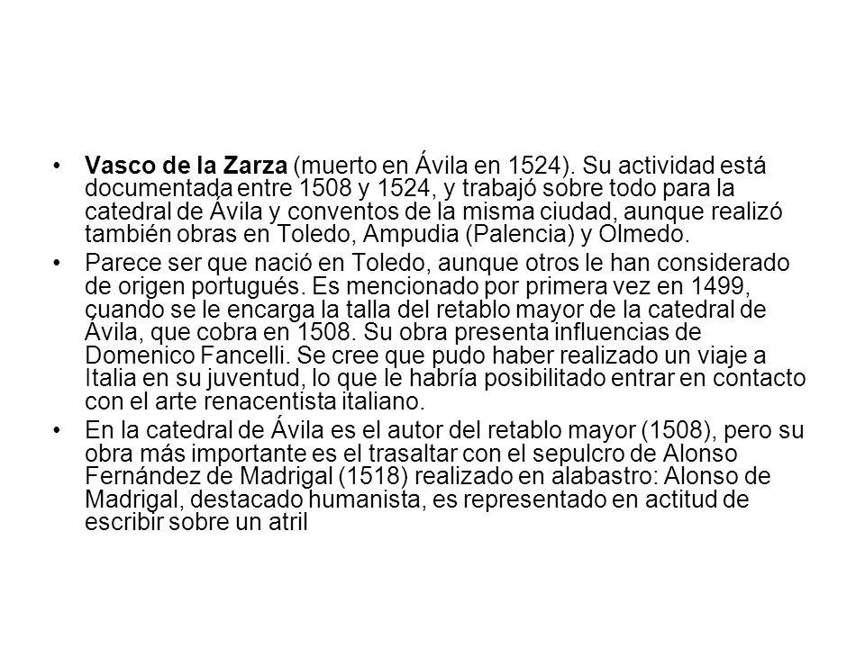Vasco de la Zarza (muerto en Ávila en 1524)