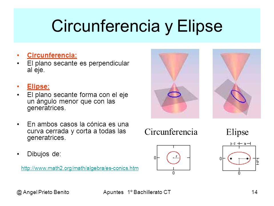 Circunferencia y Elipse