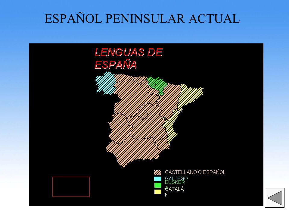ESPAÑOL PENINSULAR ACTUAL