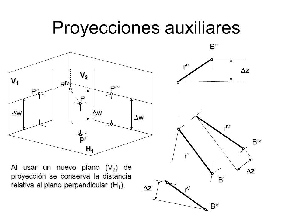 Proyecciones auxiliares