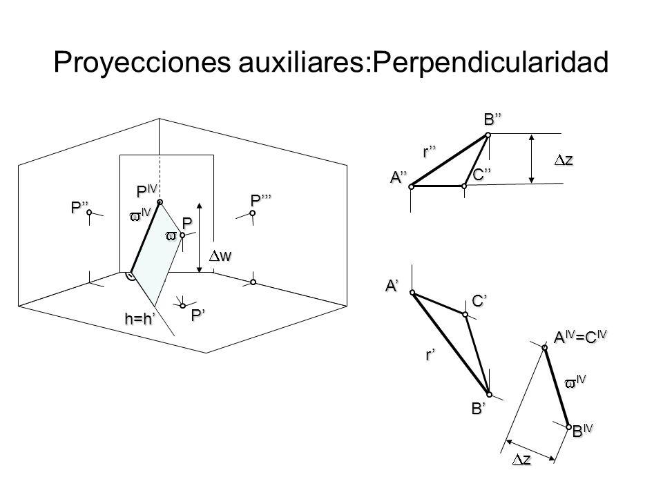 Proyecciones auxiliares:Perpendicularidad