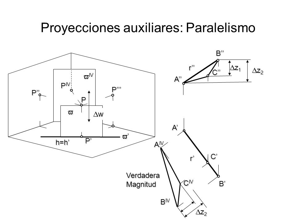 Proyecciones auxiliares: Paralelismo