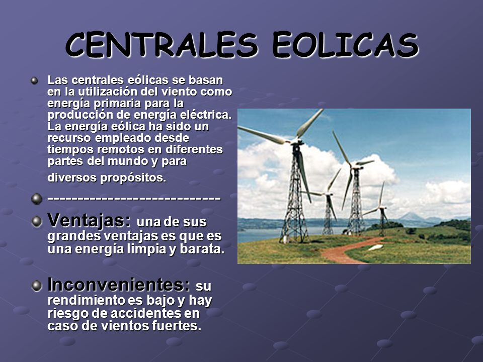 CENTRALES EOLICAS ----------------------------